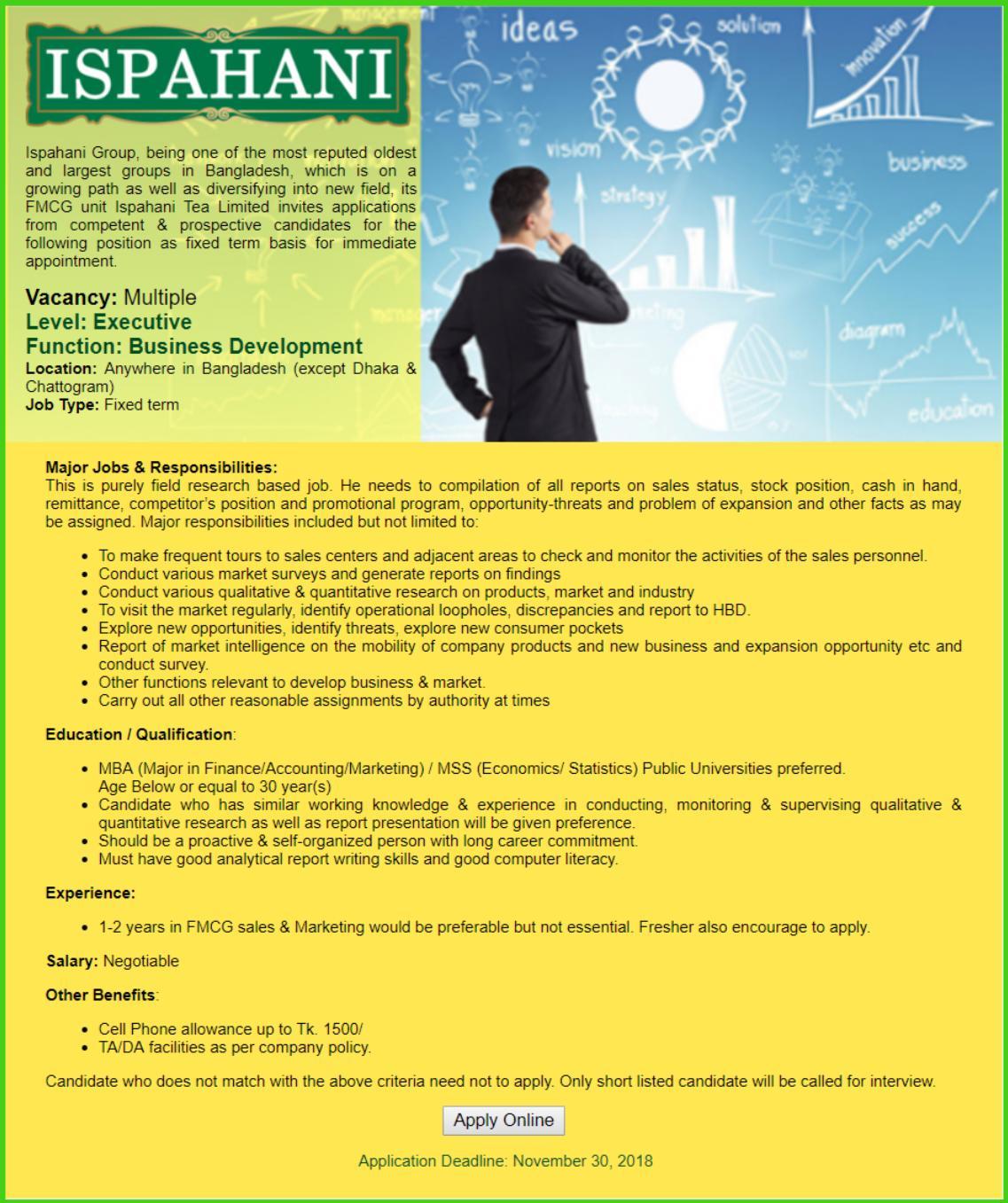 Ispahani Group Job Circular