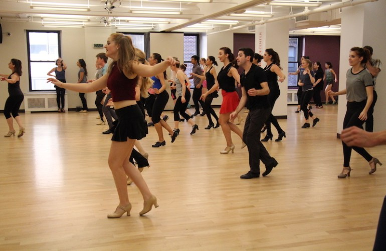 Randy Skinner's tap class at Broadway Dance Center. Photo courtesy of BDC