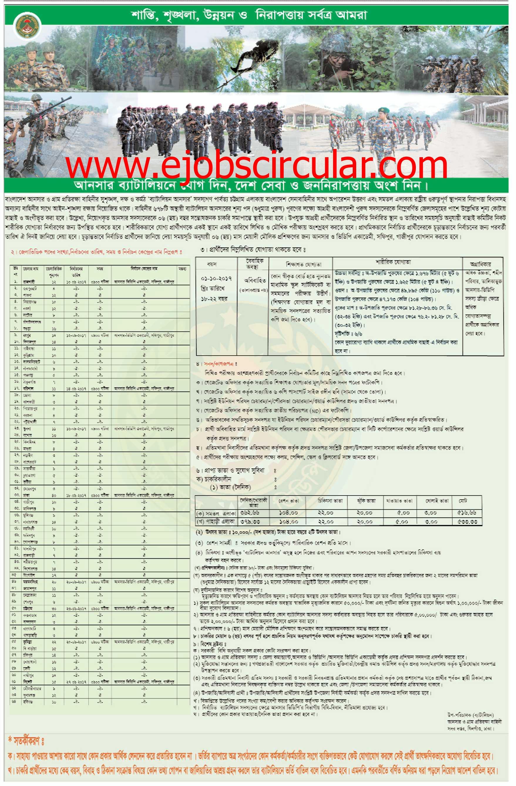 Ansar VDP Job Circular