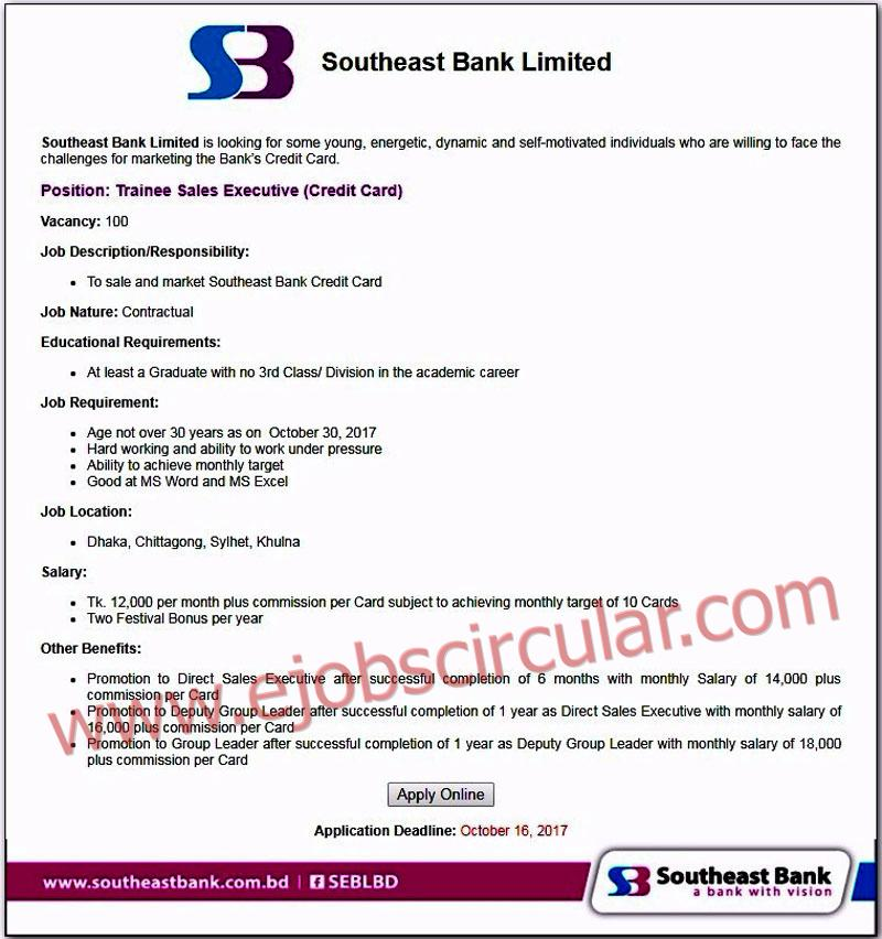Southeast Bank Recruitment