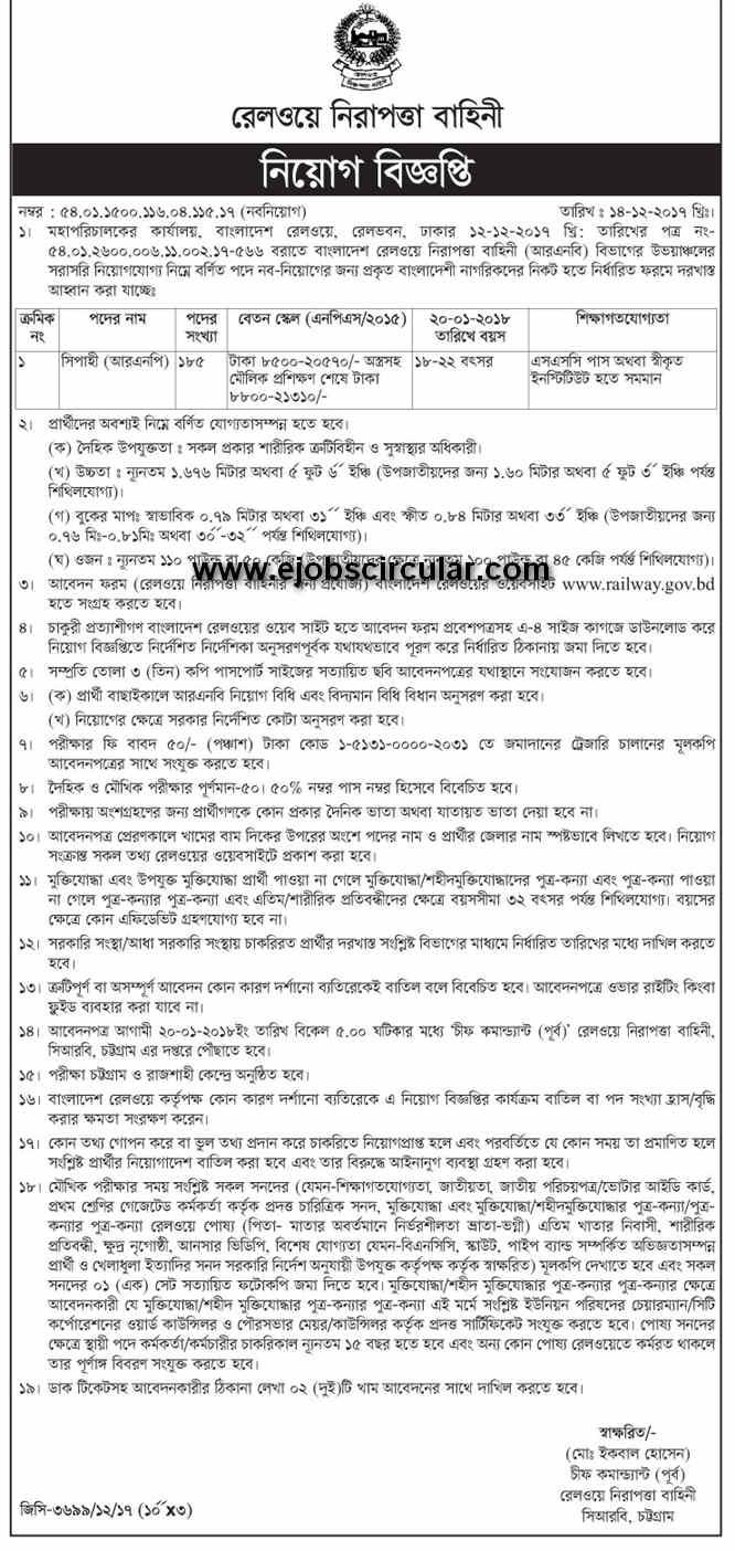 Railway Bangladesh job circular