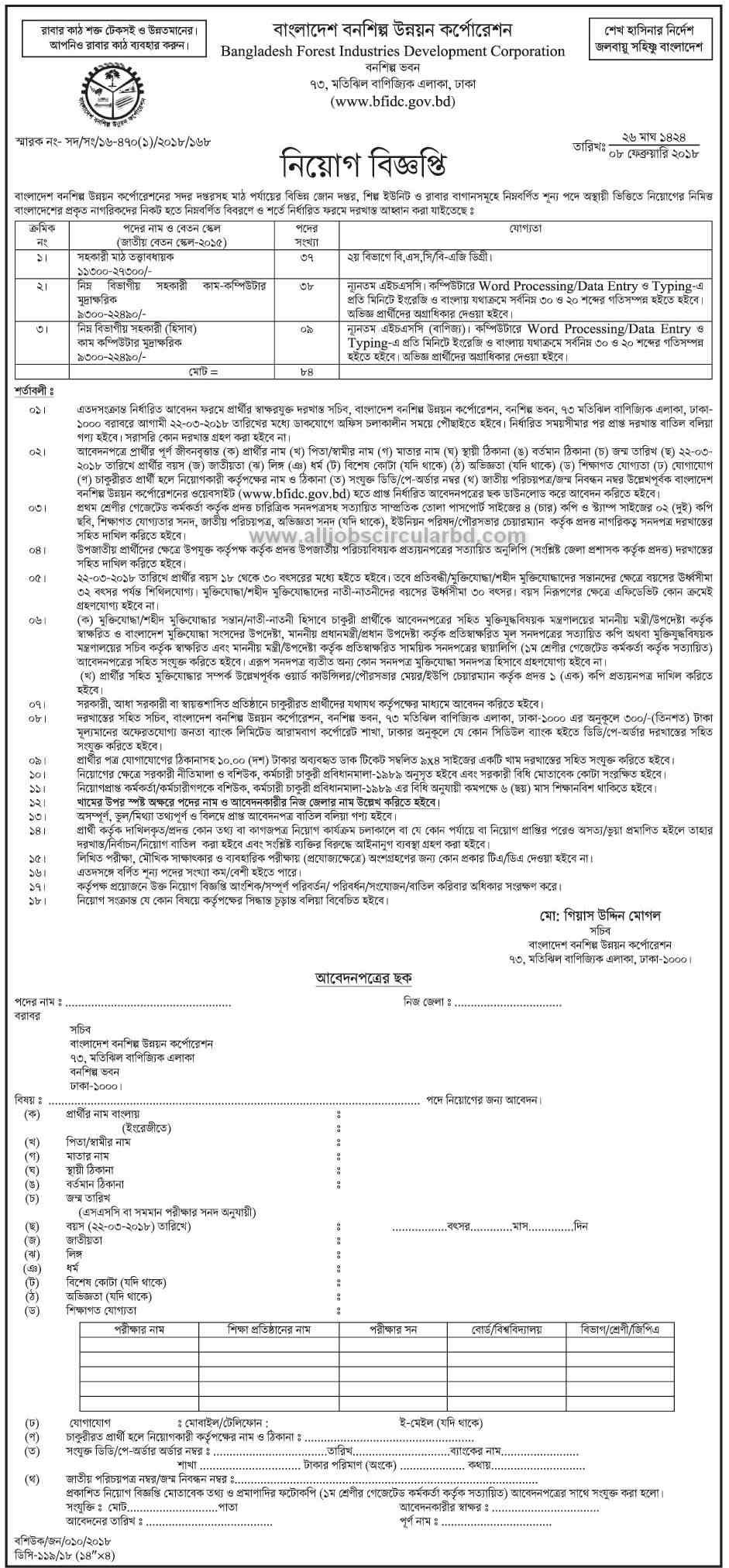 BFIDC Job circular