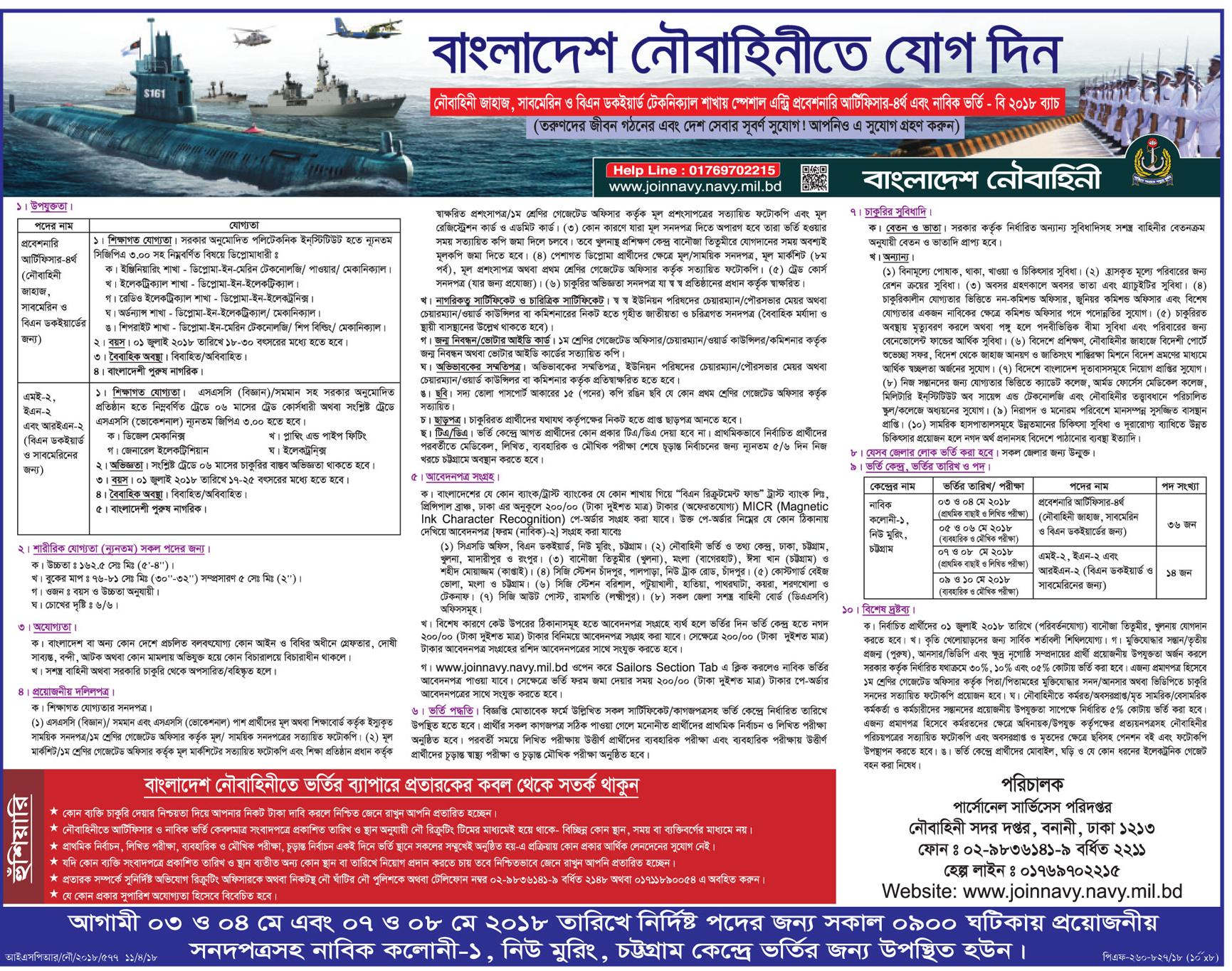 Bangladesh Navy Jobs