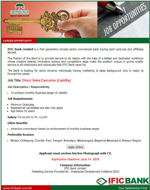 IFIC Bank Limited job