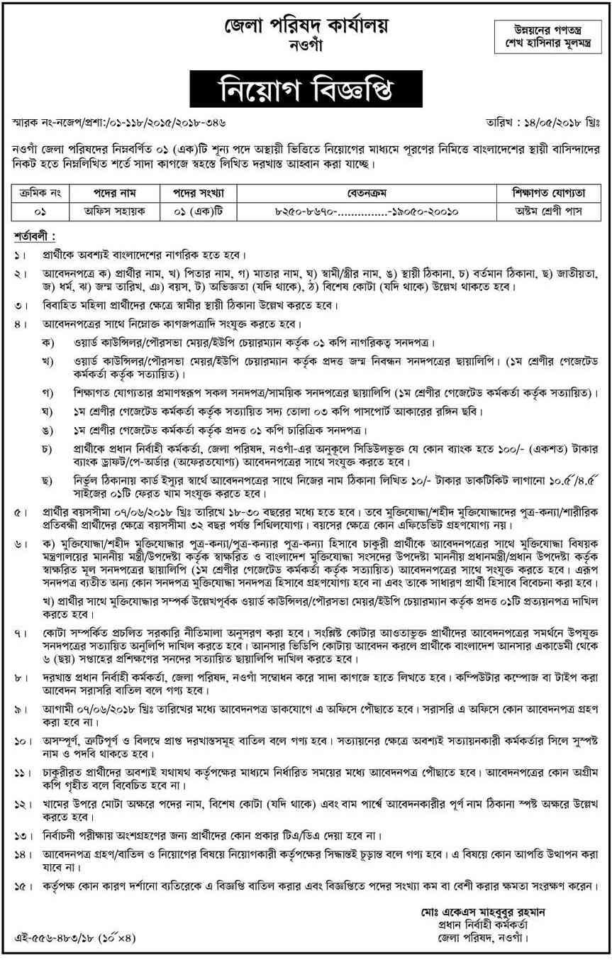 District commissioner office job circular