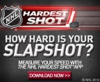 Promotional web banner used to promote release of new NHL App