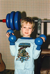 me lifting weights