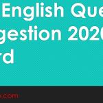 PSC English Question Suggestion 2020 All Board pdf