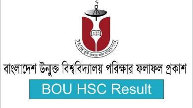 BOU HSC Result