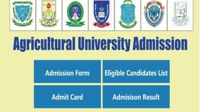 Agricultural University Short Eligible Candidates List