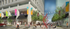 Uptown Shopping Center - Plaza View