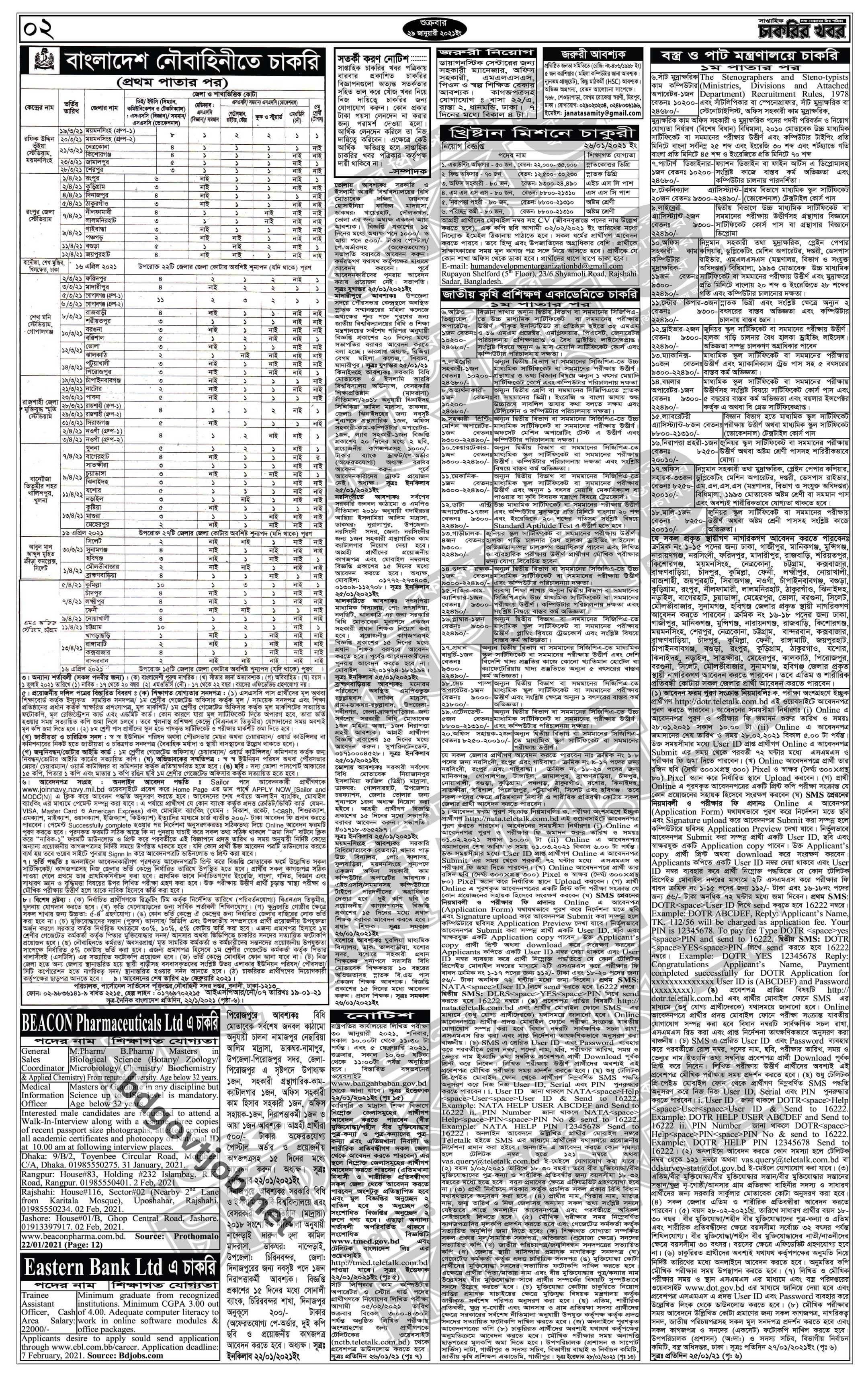 weekly job newspaper 29 January 2021