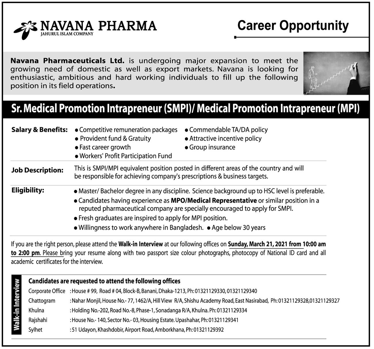 Navana Pharmaceuticals Limited job circular