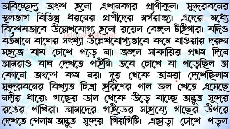 class 6 assignment Bangla answer