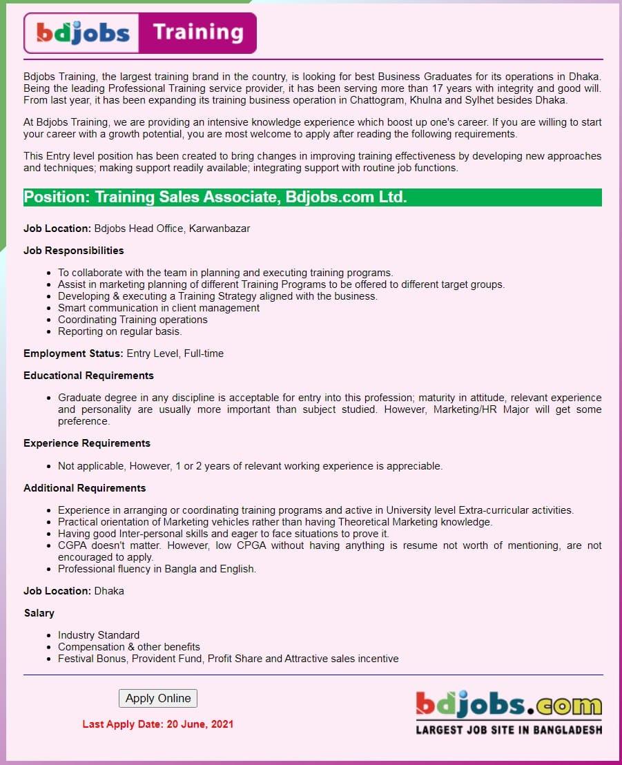 bd jobs Job Circular