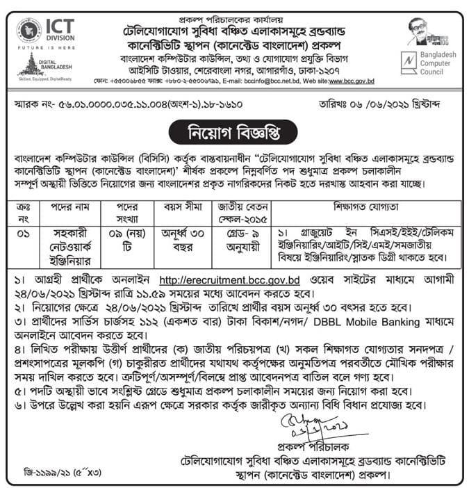 ICT Division Job Circular 2021