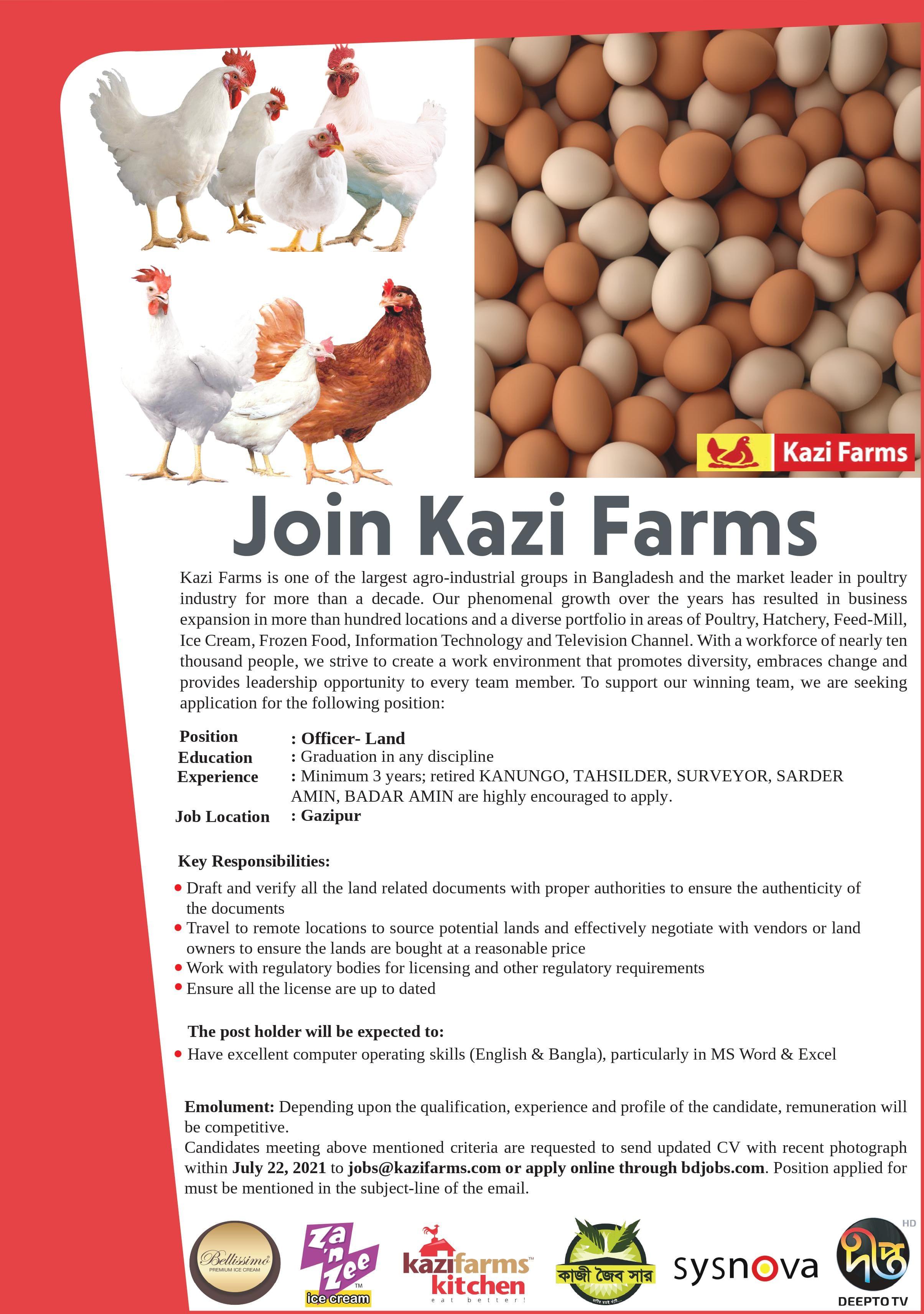 Kazi Farms Group Job Circular