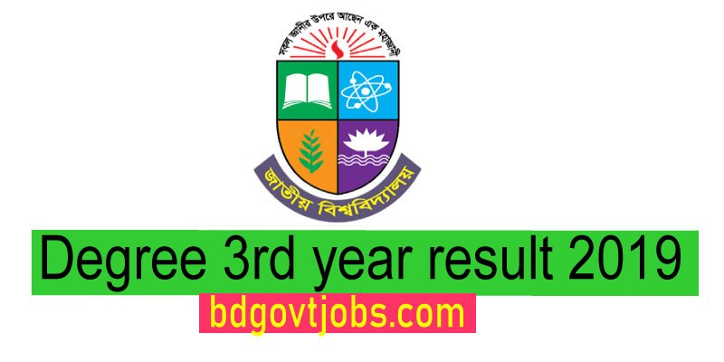 NU Degree 3rd year result 2019