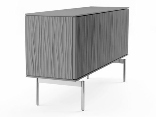 The Tanami 7107 modern credenza by BDI features polished chrome legs that provide sturdy support, along with a distinctly modern and minimalist look.