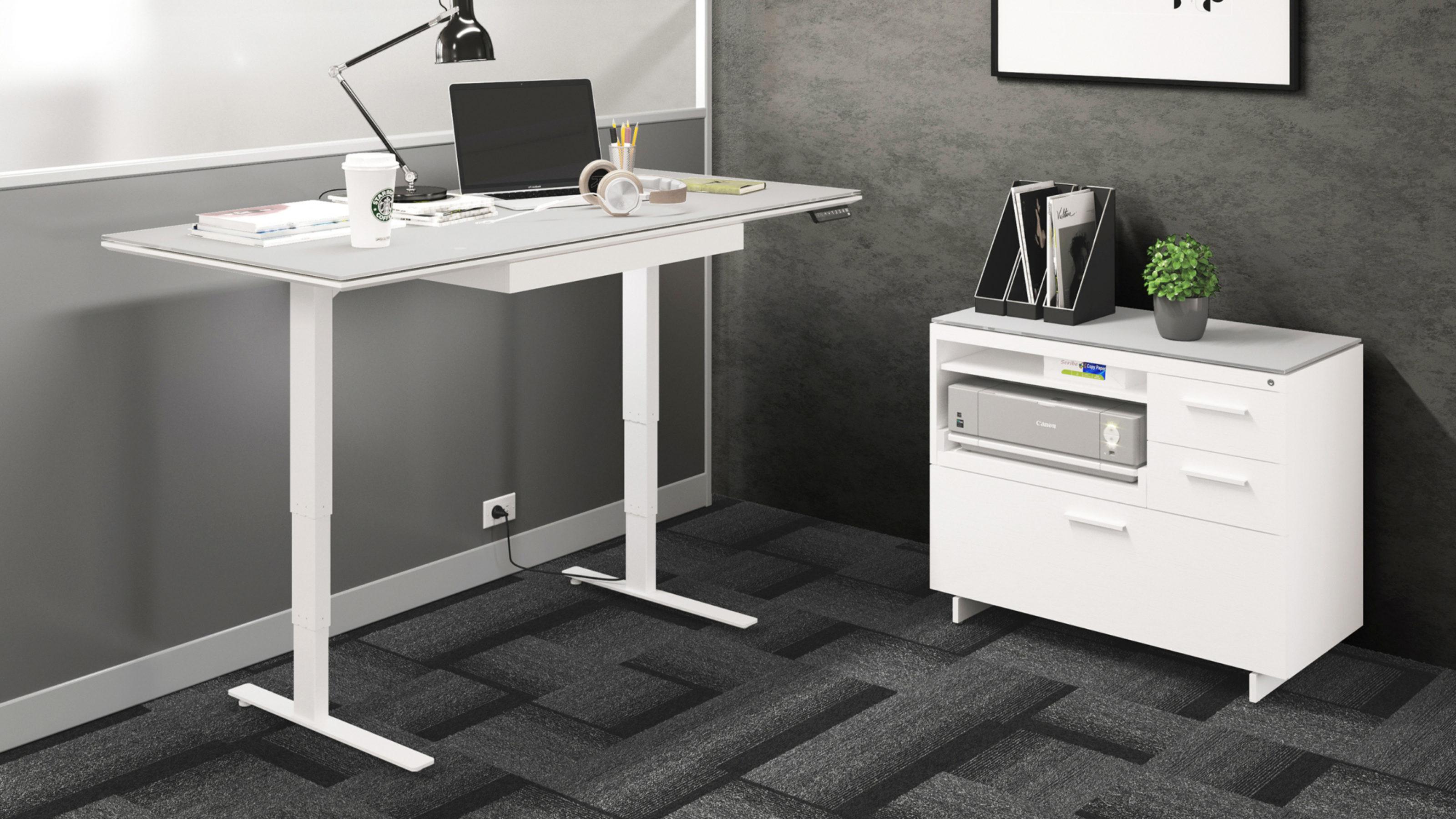 Centro 6452 2 Height Adjustable Standing Desk 66 X30 Bdi Furniture