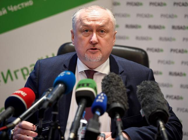 Russia`s anti-doping agency (RUSADA) director general Yury Ganus holds a press conference in Moscow on 27 December 2019. Russia on 27 December 2019 formally contested a four-year ban from major sporting events over doping violations that president Vladimir Putin has condemned as `unjust,` the head of its RUSADA anti-doping agency said. Photo: AFP