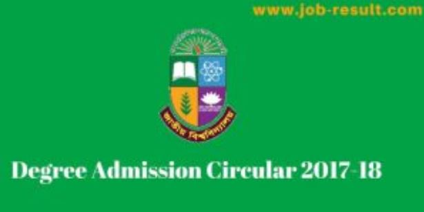 Degree Admission Circular