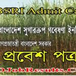 BSRI Admit Card 2021