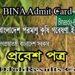 BINA Admit Card 2021