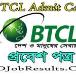 BTCL Admit Card 2021