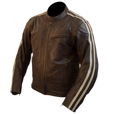 ARMR Hiro Men's Classic Leather Motorcycle Jacket Brown
