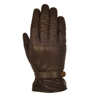 Oxford Holton Motorcycle Leather Gloves Brown