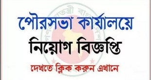 Municipality Office Job Circular 2019
