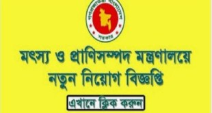ministry of fisheries and livestock job circular 2019
