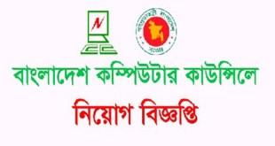 BANGLADESH COMPUTER COUNCIL JOB CIRCULAR 2019
