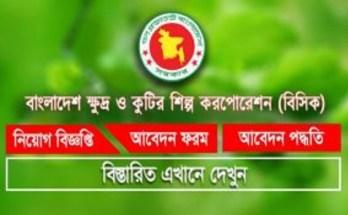 Bangladesh Small and Cottage Industries Corporation BSCIC Job Circular 2019