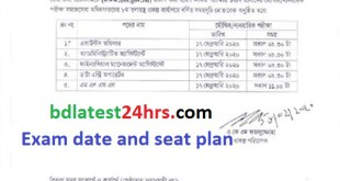 Department of Social Services (DSS) Exam date and seat plan 2020