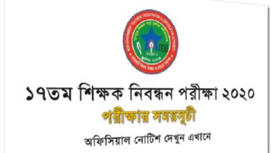 17th NTRCA Exam Date 2020 Preliminary