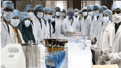 Production and distribution of hand sanitizer to prevent corona