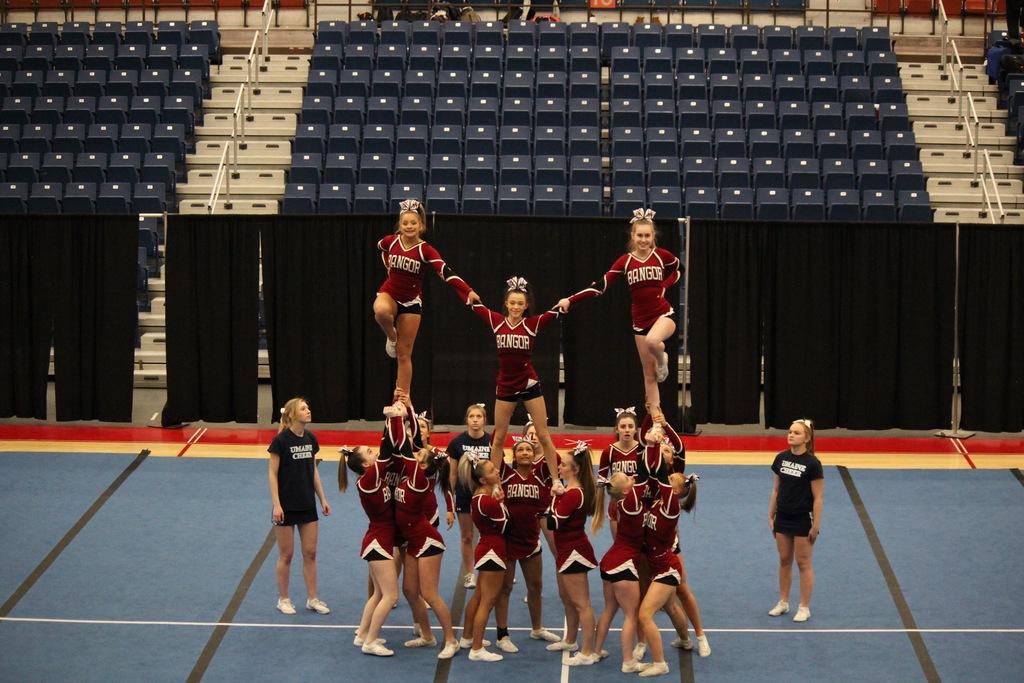 Bangor Medomak Valley Capture Regional Cheering Titles
