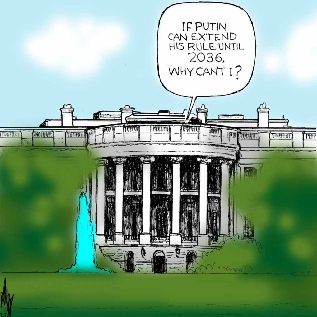 Voice coming from White House says,