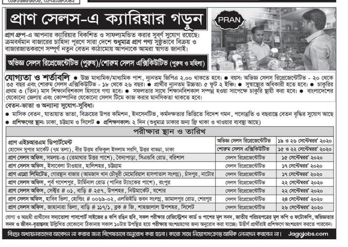 Pran company job circular 2020