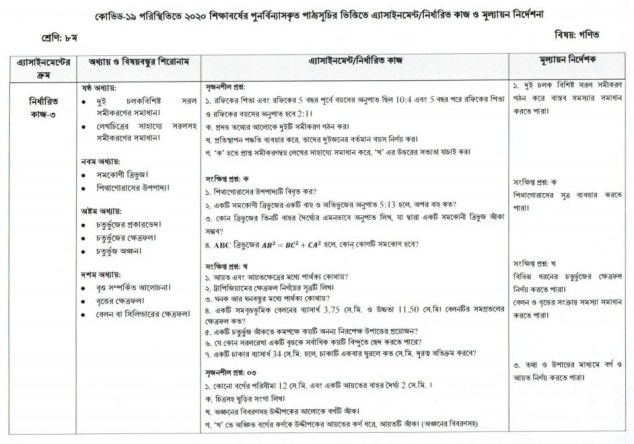 Class 8 Assignment Answer 2021 All Subject