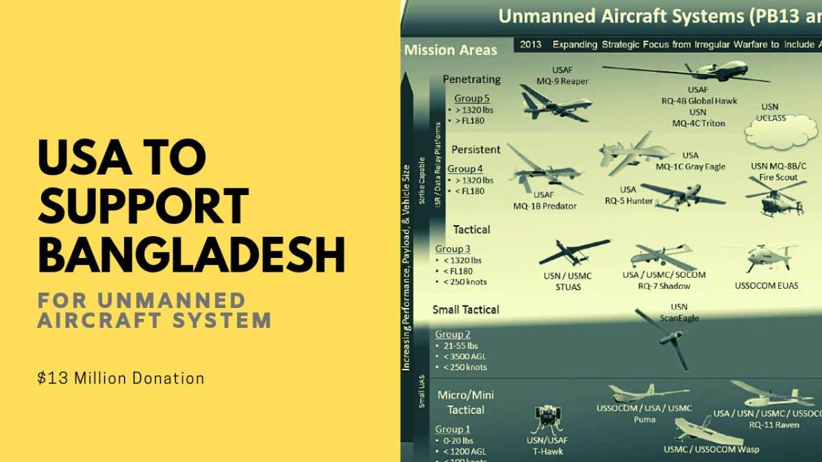 🇺🇸  USA to Support 🇧🇩 Bangladesh  For Developing An Unmanned Aircraft System