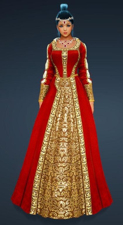 BDO Fashion | Calpheon Noble Dress (Black Desert Online)