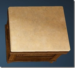 Fleece Bedside Table Top