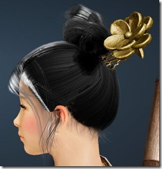 Plum Blossom Decorated Nickel Hairpin Side