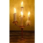 Brass Candelabra with Four Candles
