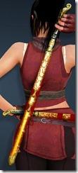 Golden Scale Short Sword Stowed