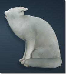 White Shorthair Cat Side