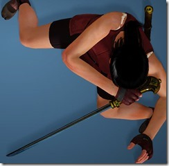 Karin Short Sword Drawn Kunoichi